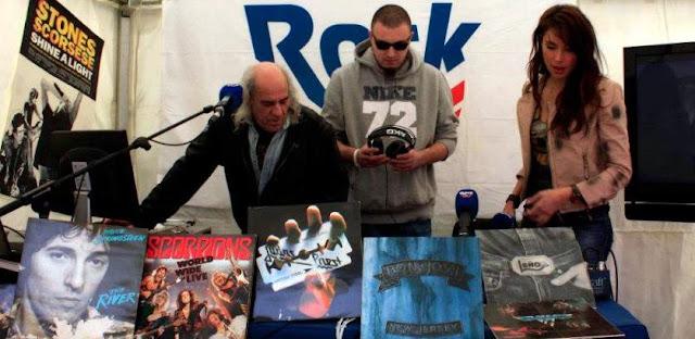 El Pirata radiando las 500 mejores canciones del rock en rock FM