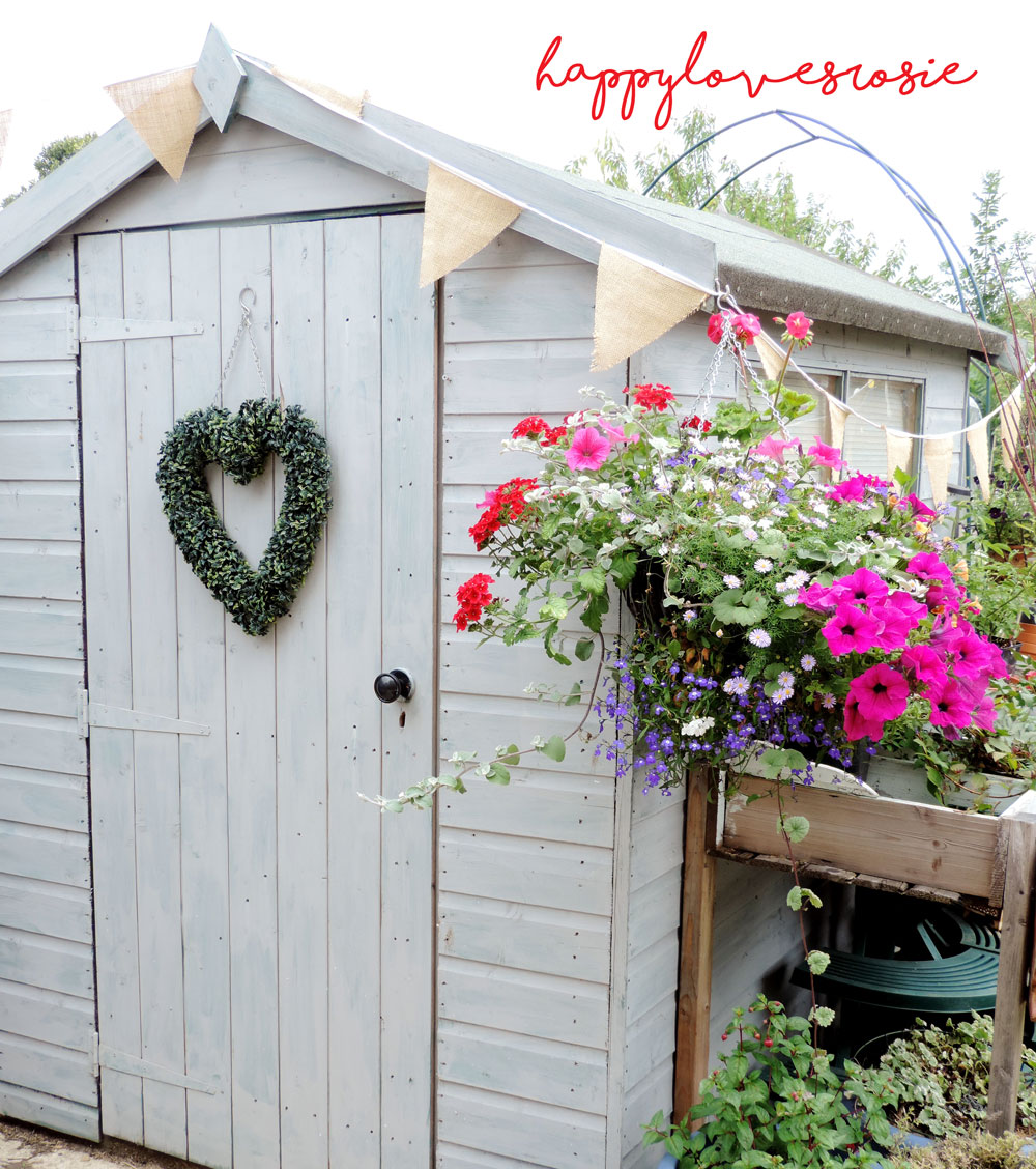 pretty garden grey shed