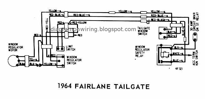 Ford Fairlane Tailgate 1964 Windows Wiring Diagram | All