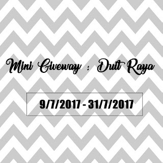 Mini Giveaway, Cash, Duit Raya, Blogger, Blog Miss Banu Story, Blog,
