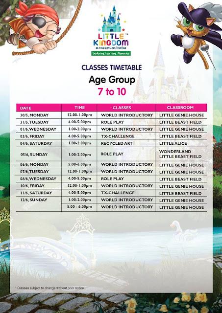JADUAL KELAS Little Kingdom Maju Junction Kuala Lumpur - Indoor Edutainment Theme Park