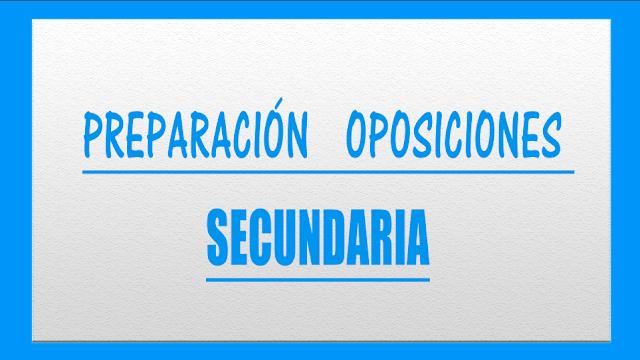 preparador oposiciones secundaria economía