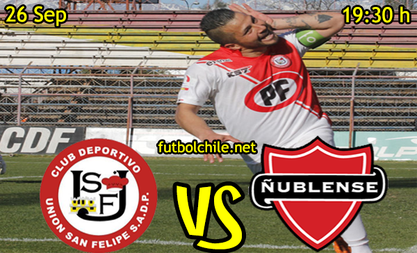 Ver stream hd youtube facebook movil android ios iphone table ipad windows mac linux resultado en vivo, online:  Union San Felipe vs Ñublense