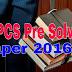 UPPCS Pre Solved Paper 2016- Download Pdf