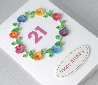 Handmade 2015 quilling paper birthday greeting cards - quillingpaperdesigns