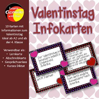 Infokarten zum Thema Valentinstag für den Deutschunterricht und DaF-Unterricht