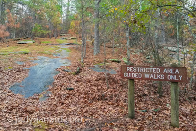 Panola Mountain Restricted Area Sign