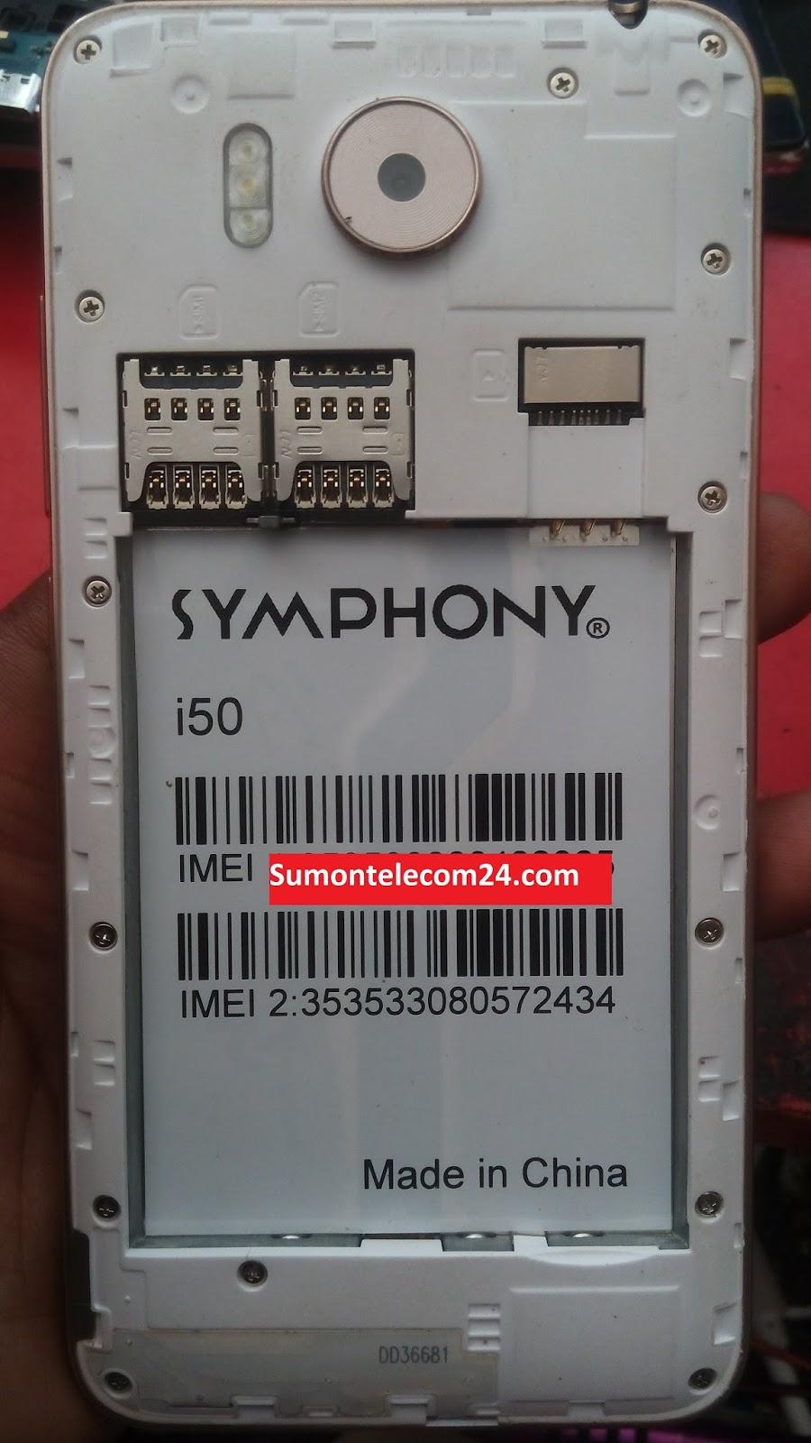 Symphony i50 Flash File MT6580 Stock Firmware File