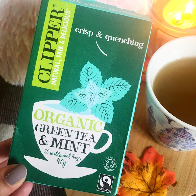 Clipper tea organic mint packaging