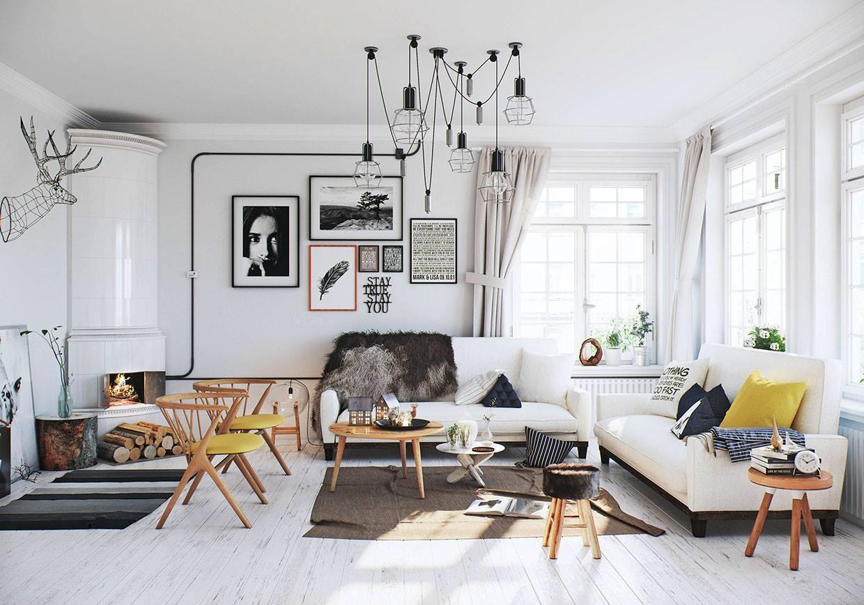 Scandinavian style apartment in delhi