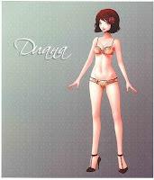 Бумажная кукла Диана