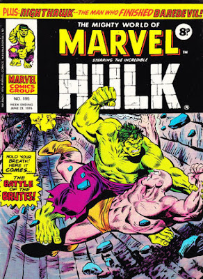 Mighty World of Marvel #195, Hulk vs Missing Link