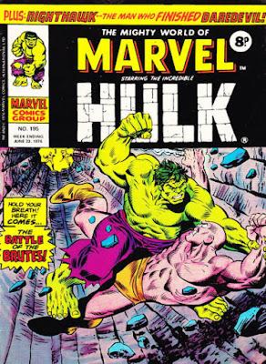 Mighty World of Marvel #195, Hulk vs Missing Link