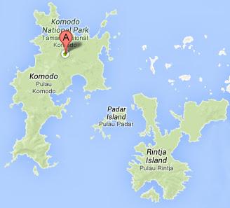 Lokasi Pulau Komodo