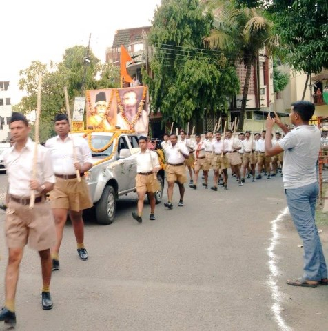 RSS Path Sanchalan by Sangh Shiksha Varg trainees held at Nagpur.