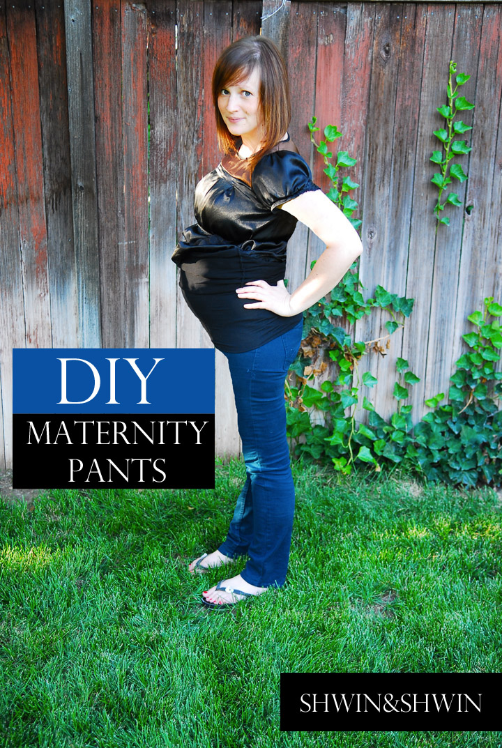 Diy Maternity Pants Belly Baby Shwin And Shwin
