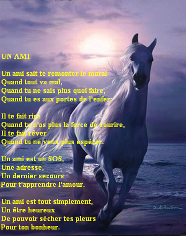 POEME D'AMITIE AVEC PRENOM ~ Poème d'amitié