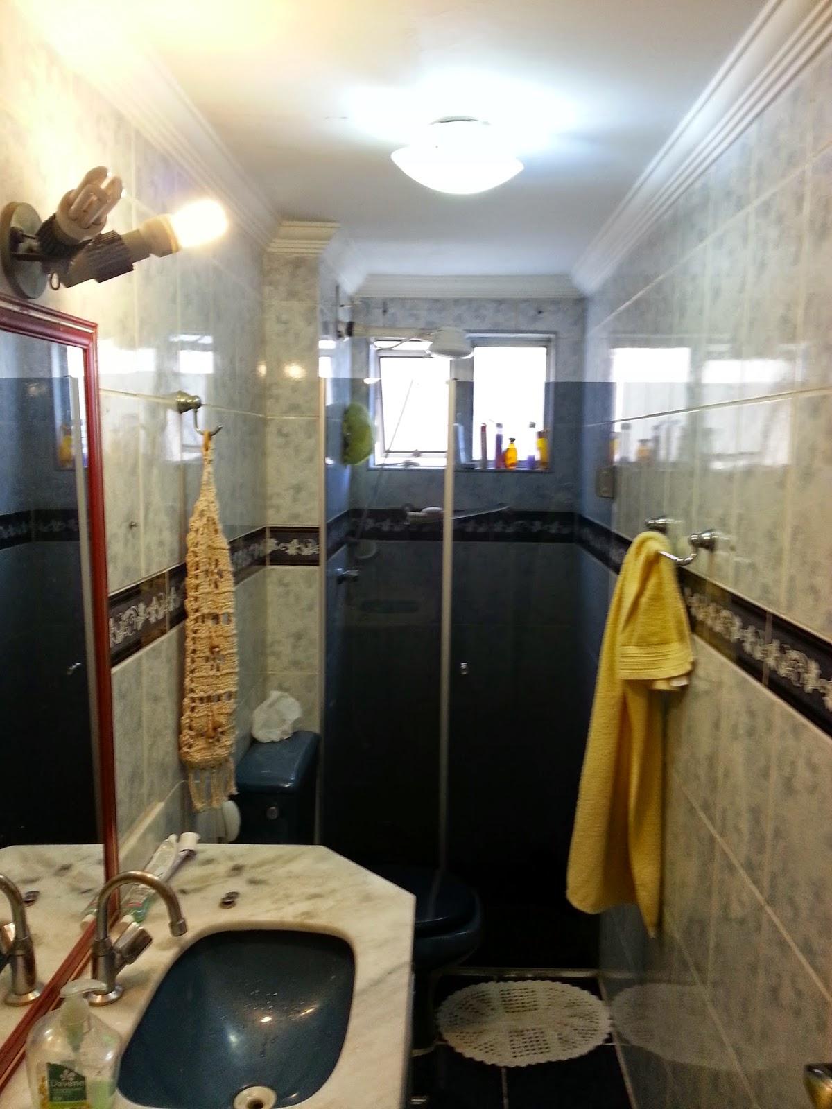 Antes e Depois banheiro =)  Meu novo Lar -> Decoracao De Banheiro Estreito E Comprido
