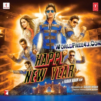 Watch Online Bollywood Movie Happy New Year 2014 300MB BRRip 480P Full Hindi Film Free Download At WorldFree4u.Com