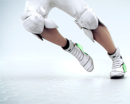 Impresionante look con aspecto futurista en los deportes de Lacoste