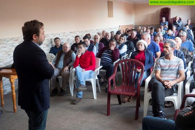 El Gobierno de Canarias encomendará en breve una siguiente fase del proyecto de regadíos del sudeste de La Palma por importe de 980.000 euros