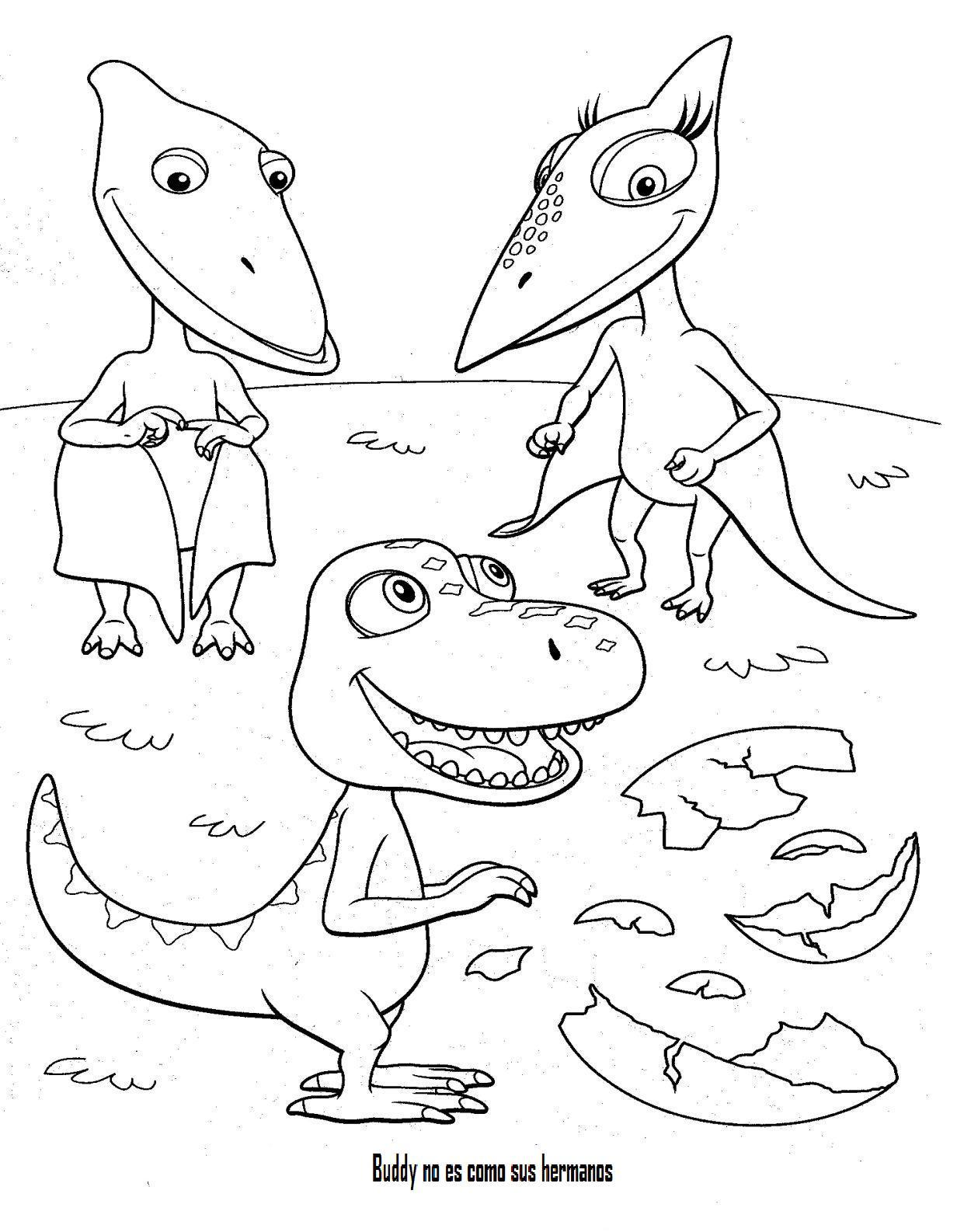 Excepcional Dinosaurios Lindos Para Colorear Imagen - Dibujos Para ...