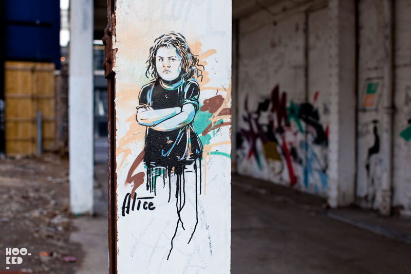 Alice Pasquini - Street Art on Shoreditch High Street