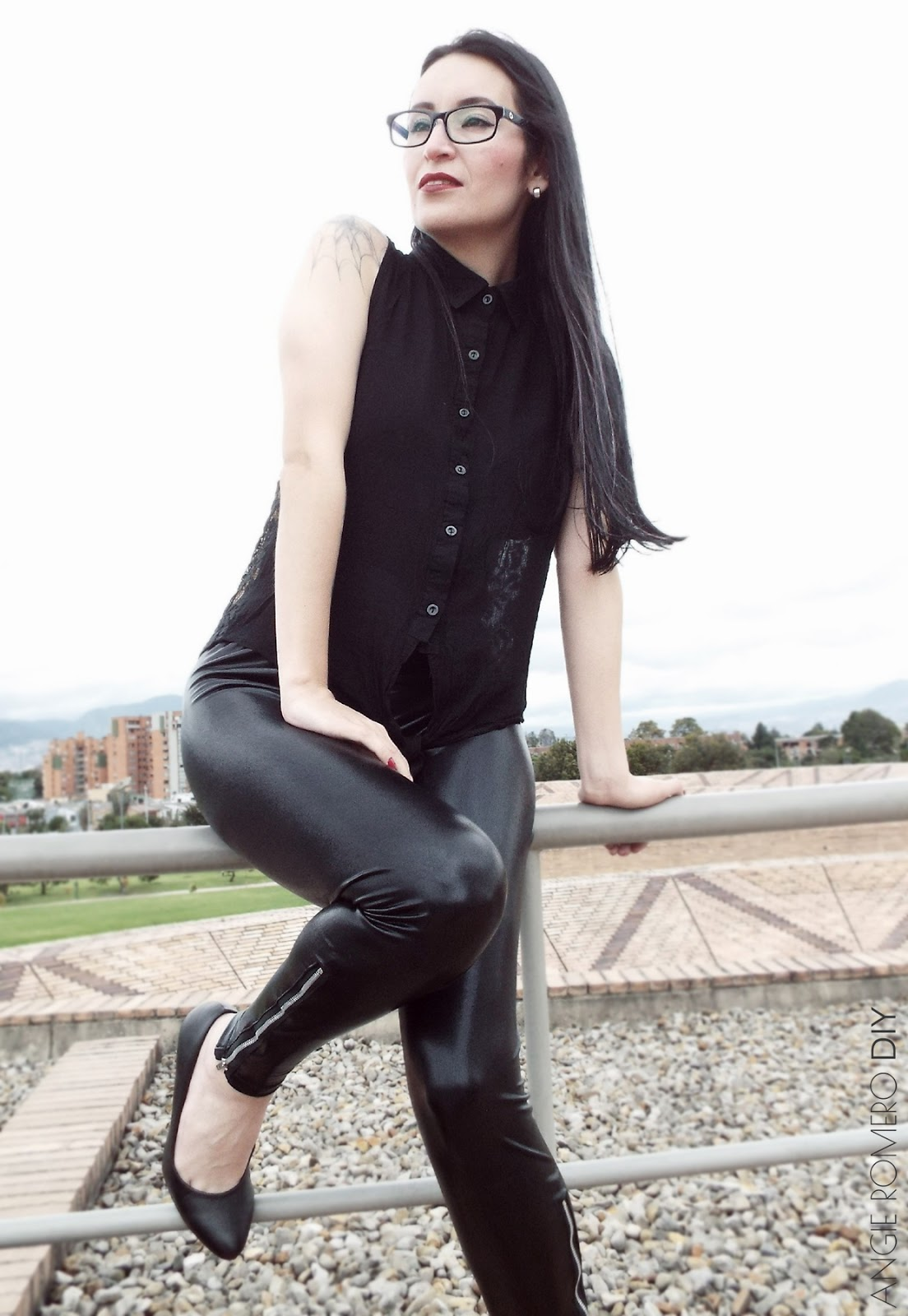 Cómo hacer leggings efecto cuero, piel o polipiel
