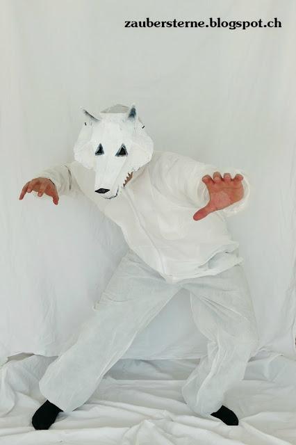 Maske, Faschingsmaske, DIY Maske, Maske kleistern, wintercroft selber machen