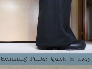 Hem pants tutorial quick and easy method