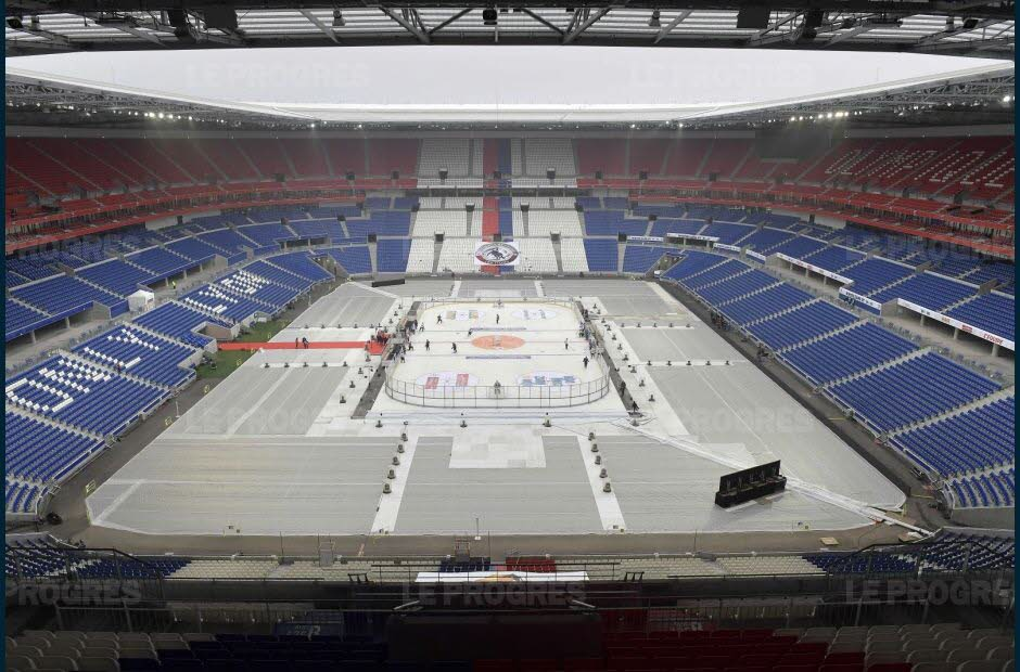stadio parc ol lione winter game hockey