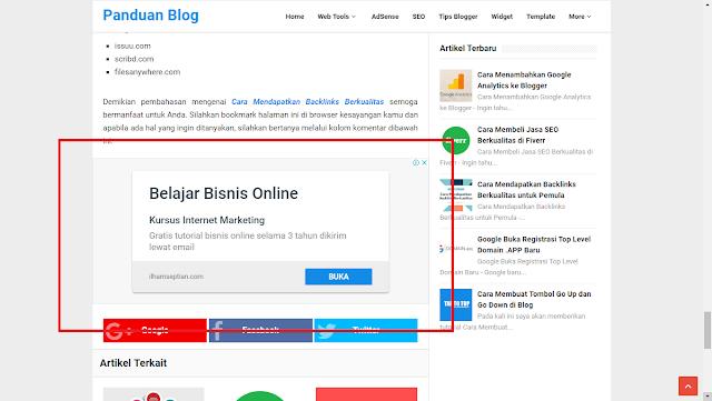 Cara Modifikasi Ukuran Iklan AdSense dengan CSS
