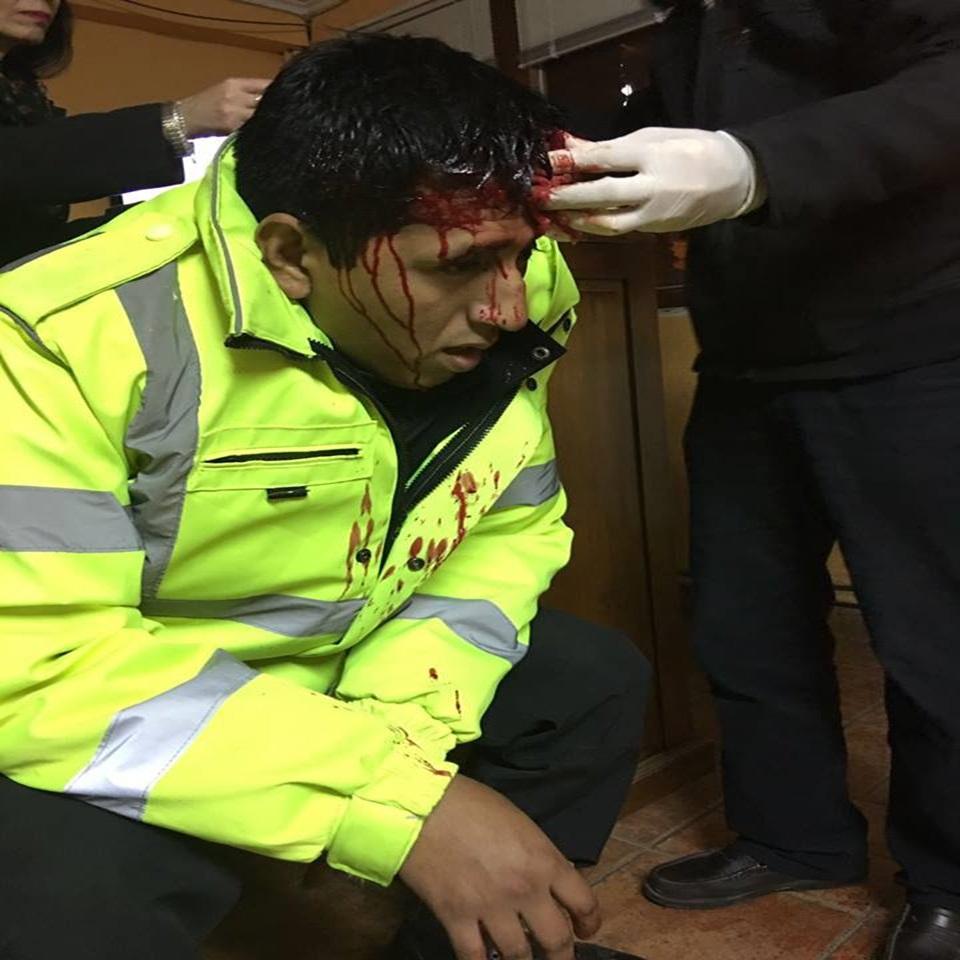 Denuncia por agresion a efectivo policial