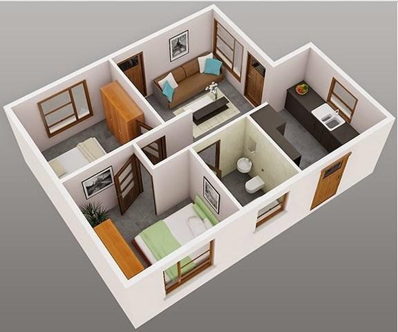 Denah Model Rumah Minimalis Tipe 36