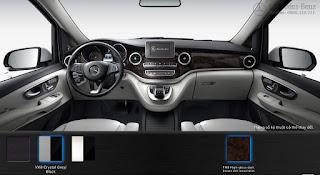 Nội thất Mercedes V220 d Avantgarde 2016 màu Xám Crystal/Đen VX8