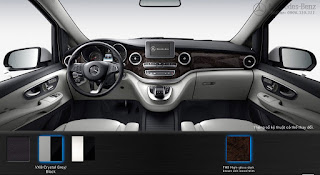 Nội thất Mercedes V220 d Avantgarde 2017 màu Xám Crystal/Đen VX8
