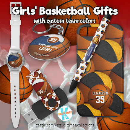 girls basketball team colors gifts collection