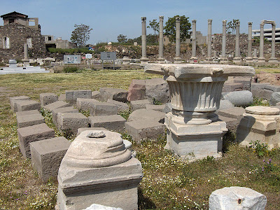 Security walls to protect agora of ancient Smyrna