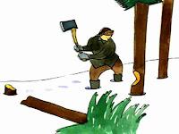 Cerita inspiratif dan motivasi berjudul si penebang pohon