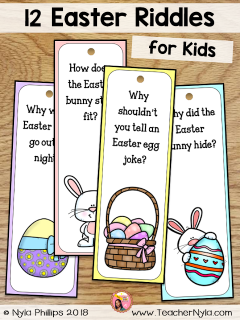 Easter Joke Riddle Bookmarks for Kids