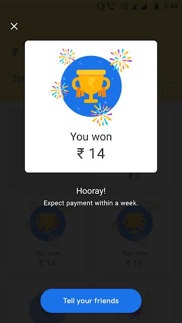 Google pay rewards tez