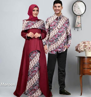 Model Baju Batik Couple Pesta Terbaru