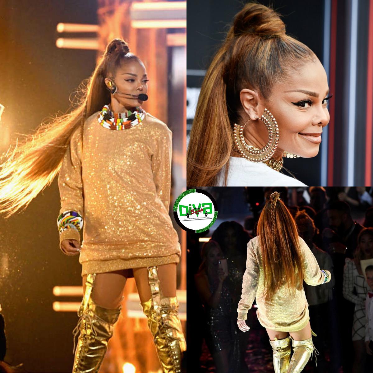 Divasnap Com Red Carpet Hair Diva Janet Jackson Serve