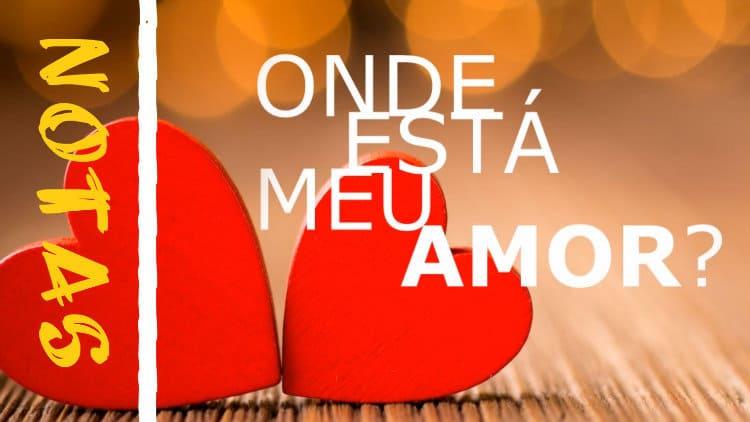 Onde está meu amor - Paulo Ricardo - Notas melódicas