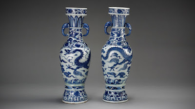 Yuan Period Blue and White Vases