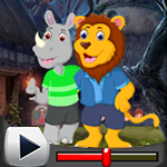 G4K Lion And Rhinoceros Embracing Escape Game Walkthrough