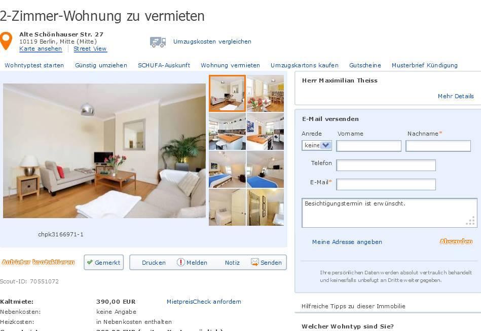 wohnungsbetrugblogspotcom maaximiliantheisshotmailcom alias Herr Maximilian Theiss 2Zimmer