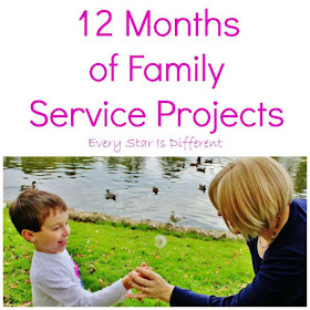 12 Months of Family Service Project Ideas