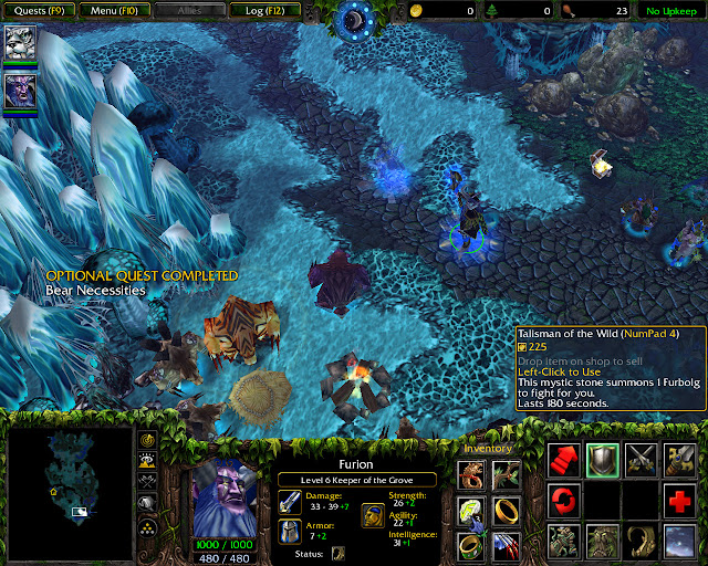 Brothers in Blood Mission 32 | Talisman of the Wild Screenshot | Warcraft 3: Reign of Chaos