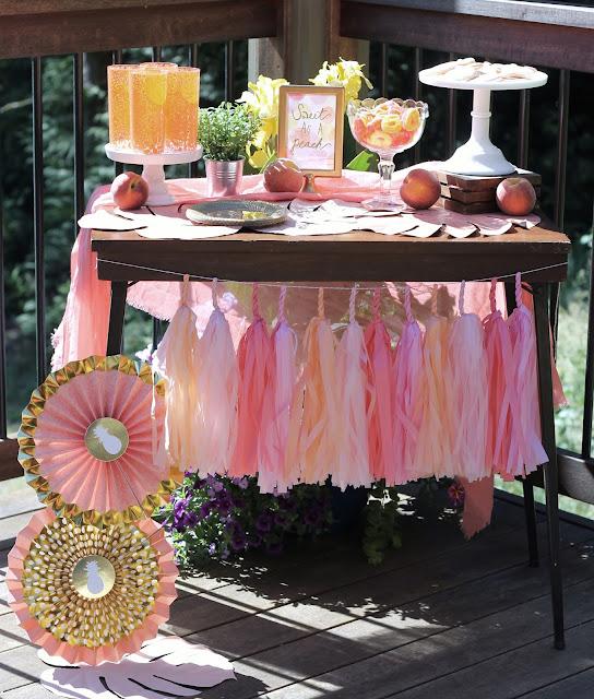 My Little Peach Baby Shower - AK Party Studio - Tacoma WA